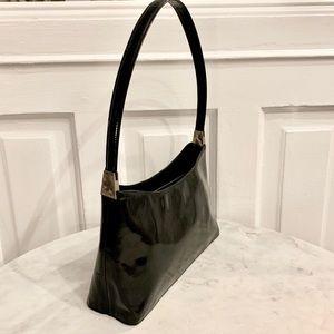 Rossetti Black Patent Leather shoulder bag